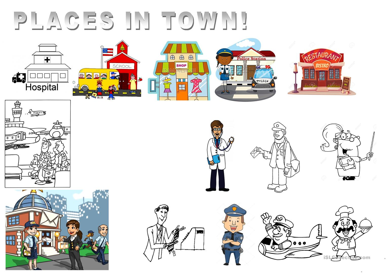 Get Places In Town Worksheet