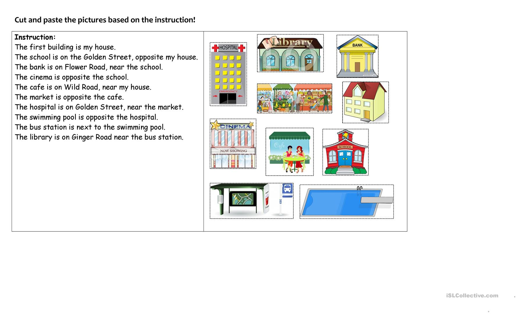 Activity For Learning Directions And Prepositions