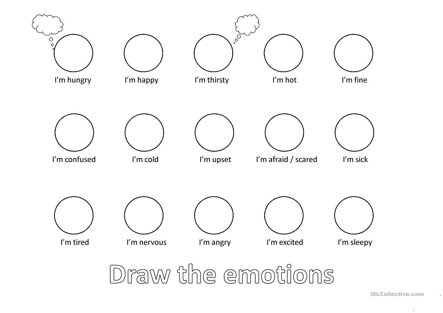 Draw Emotion And Feeling Worksheet