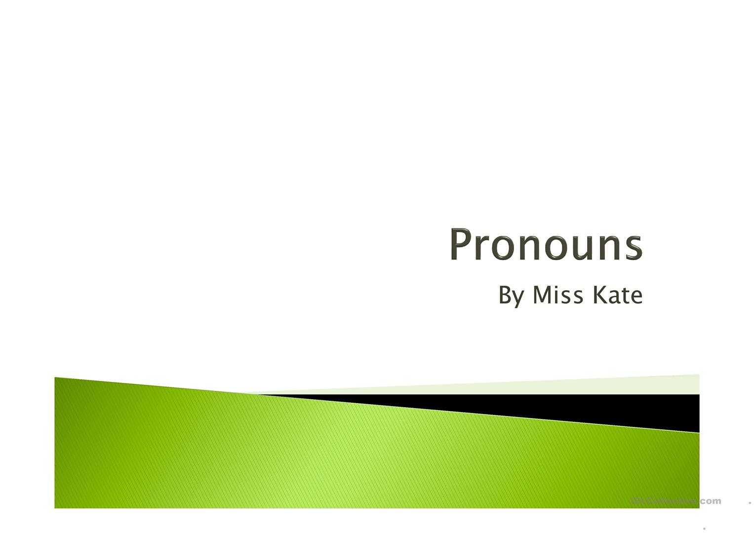 Pronouns He And She Possessive Adjectives His Her