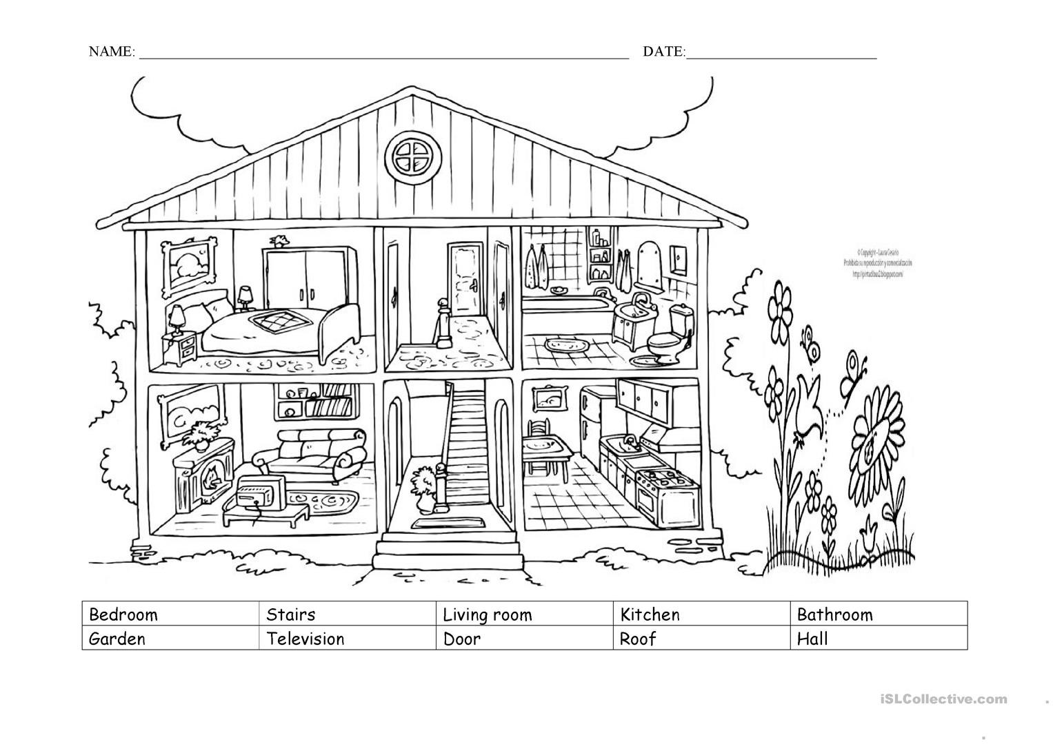 House Labeling Worksheet