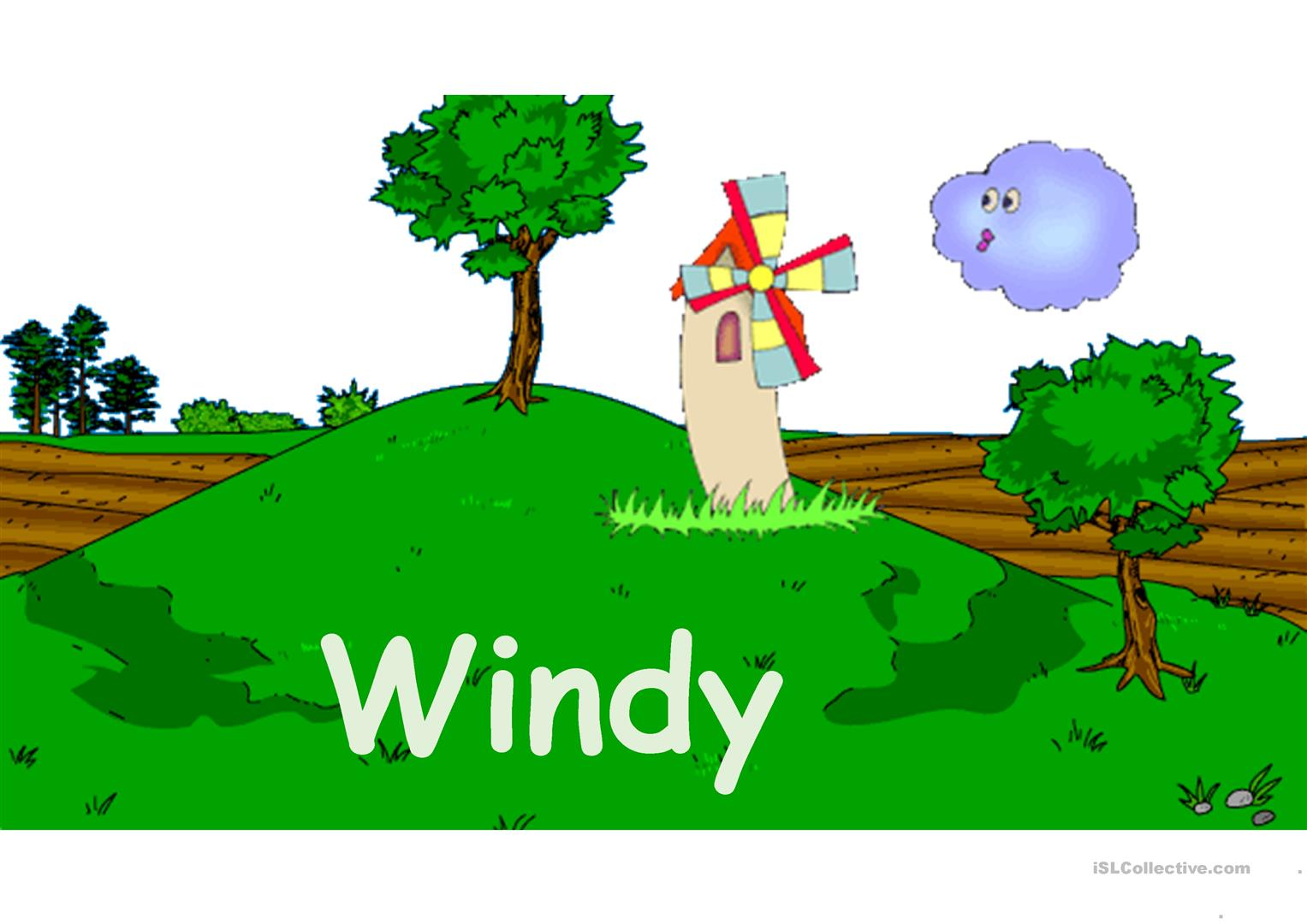 Weather Flash Cards Animated Worksheet
