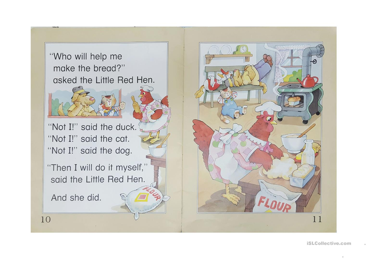 Little Red Hen Book Worksheet
