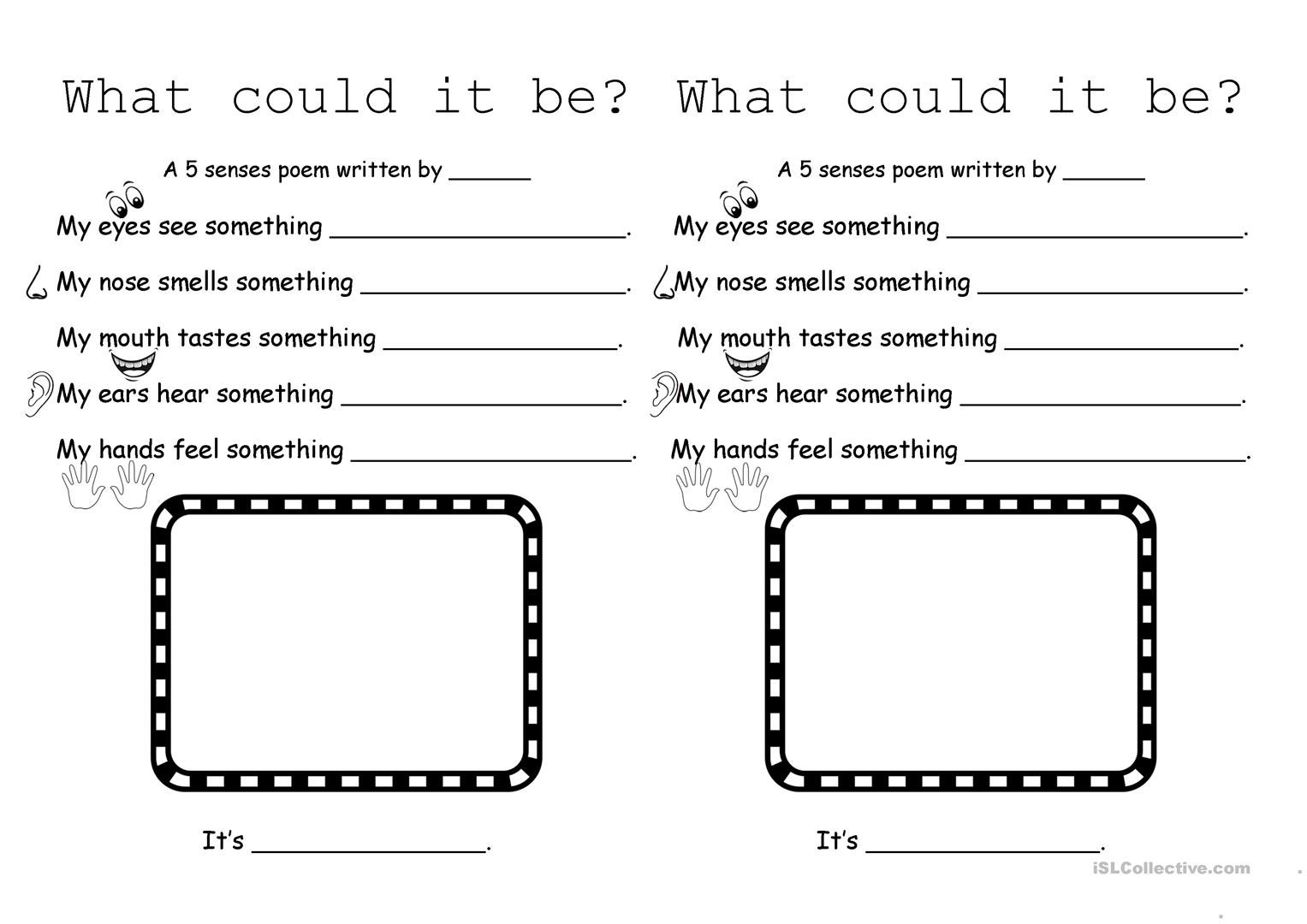What Could It Be 5 Senses Poem Worksheet