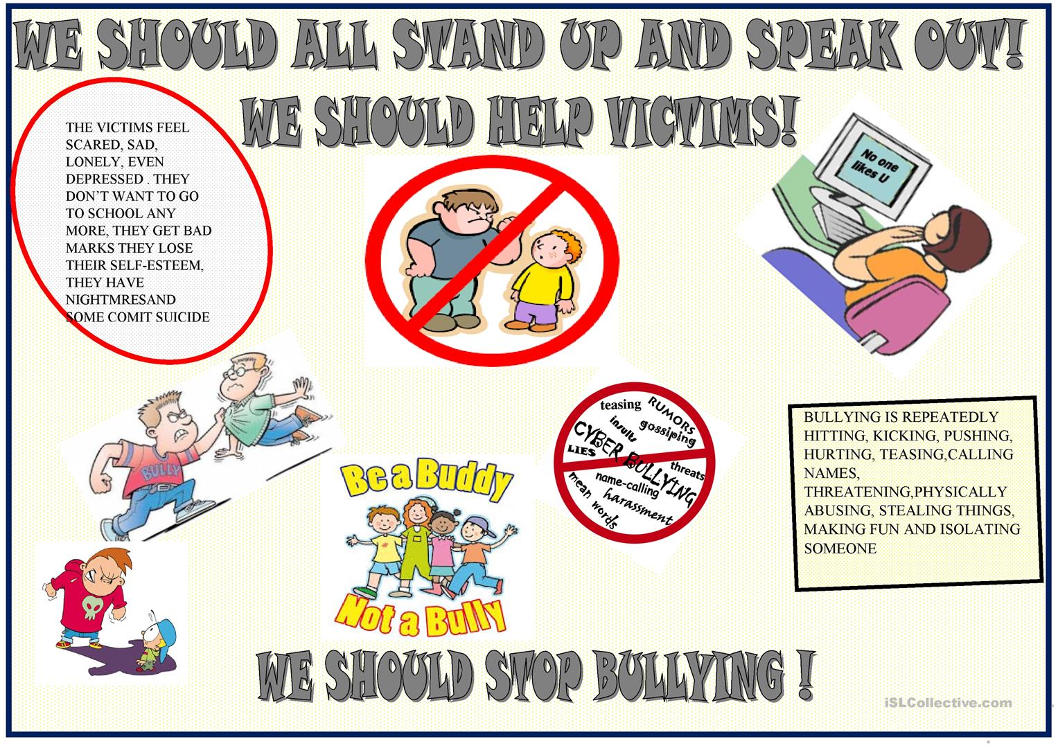 Anti Bullying Poster To Be Used As A Model For Final Task