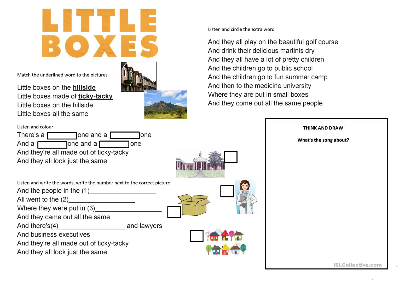 Little Boxes Walk Of The Earth Cover Song Elementary