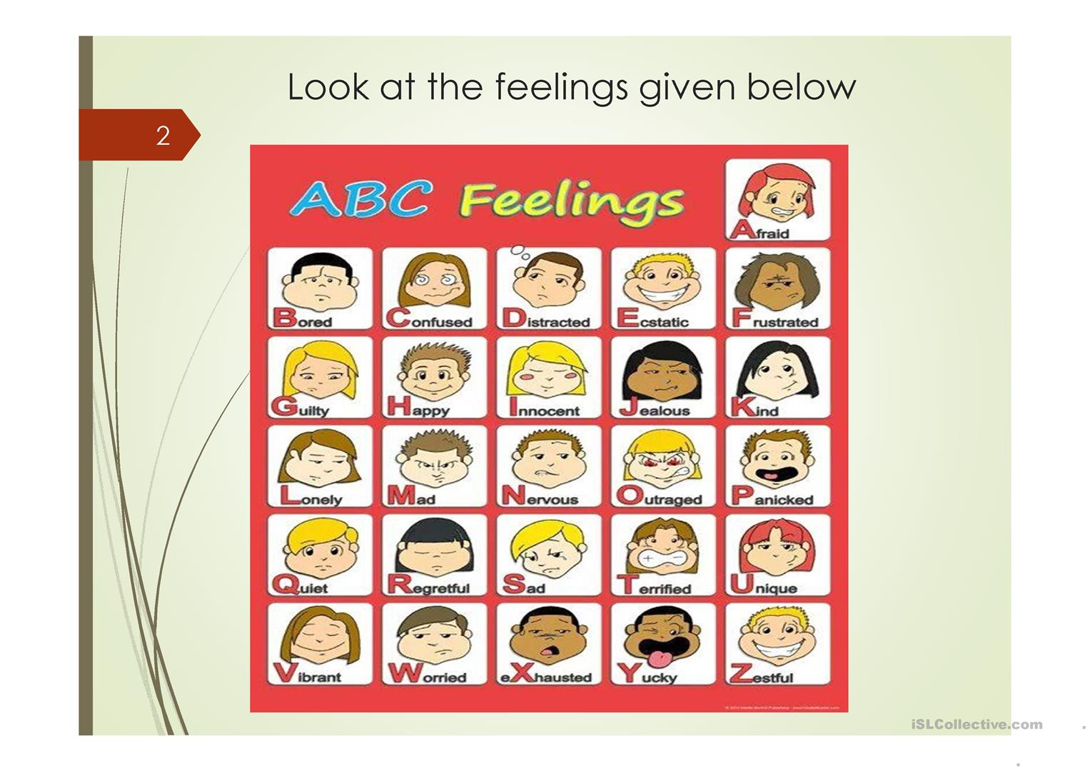Expressing Emotions And Feelings