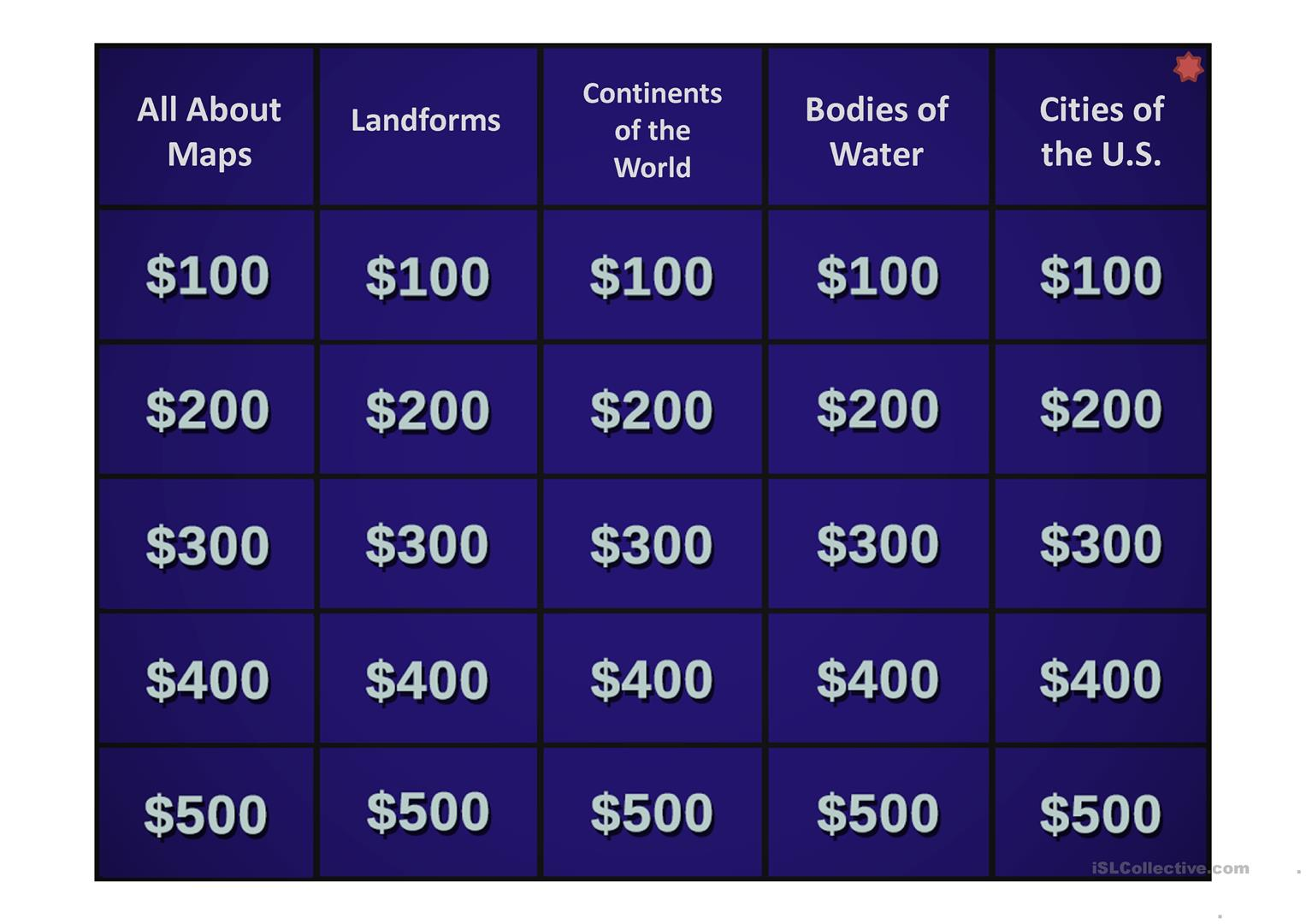 The Ultimate Jeopardy Template