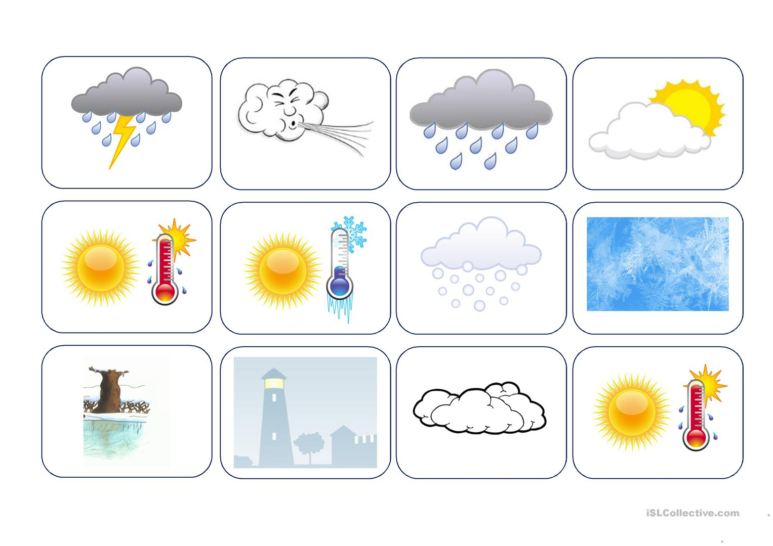 Printable Weather Worksheet For Adults