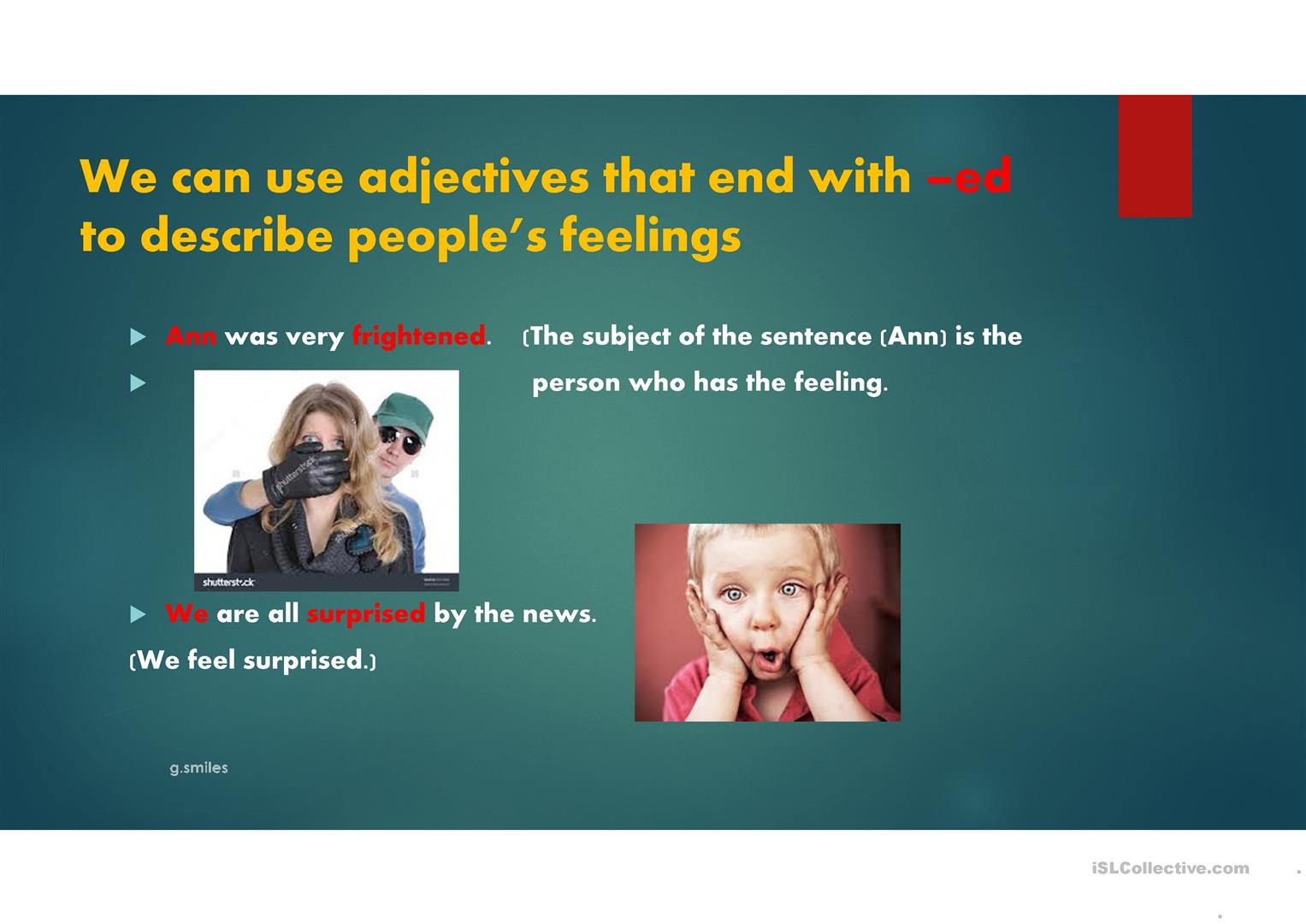 Adjectives With Ed Or Ing
