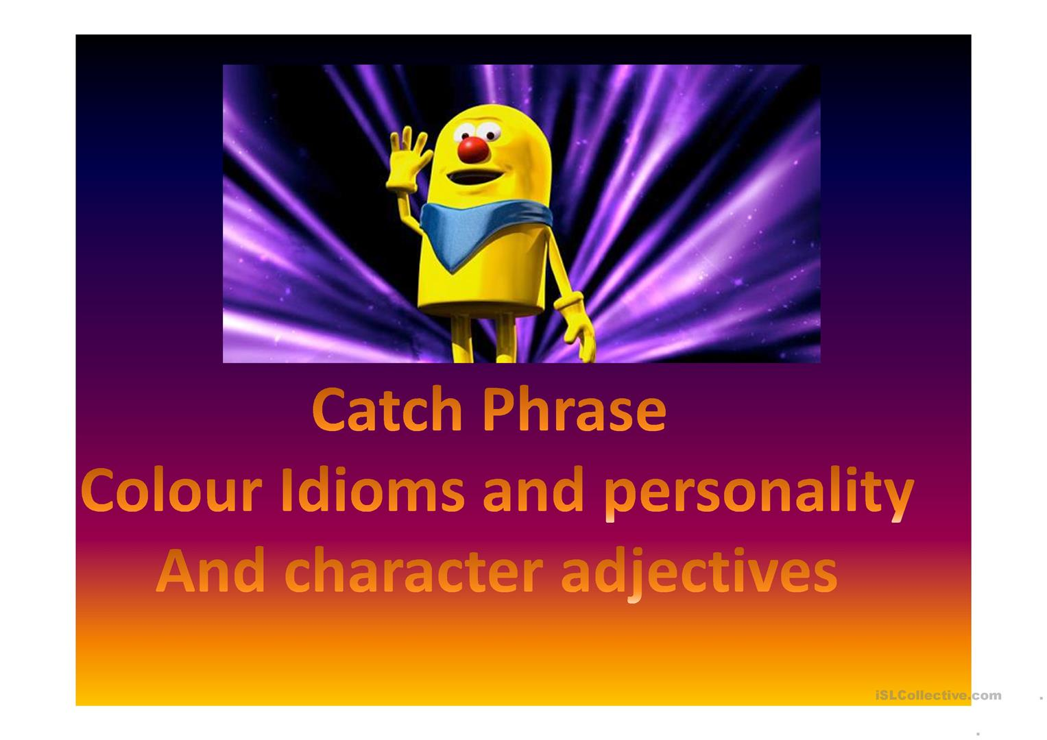 Character And Personality Adjectives And Colour Idioms