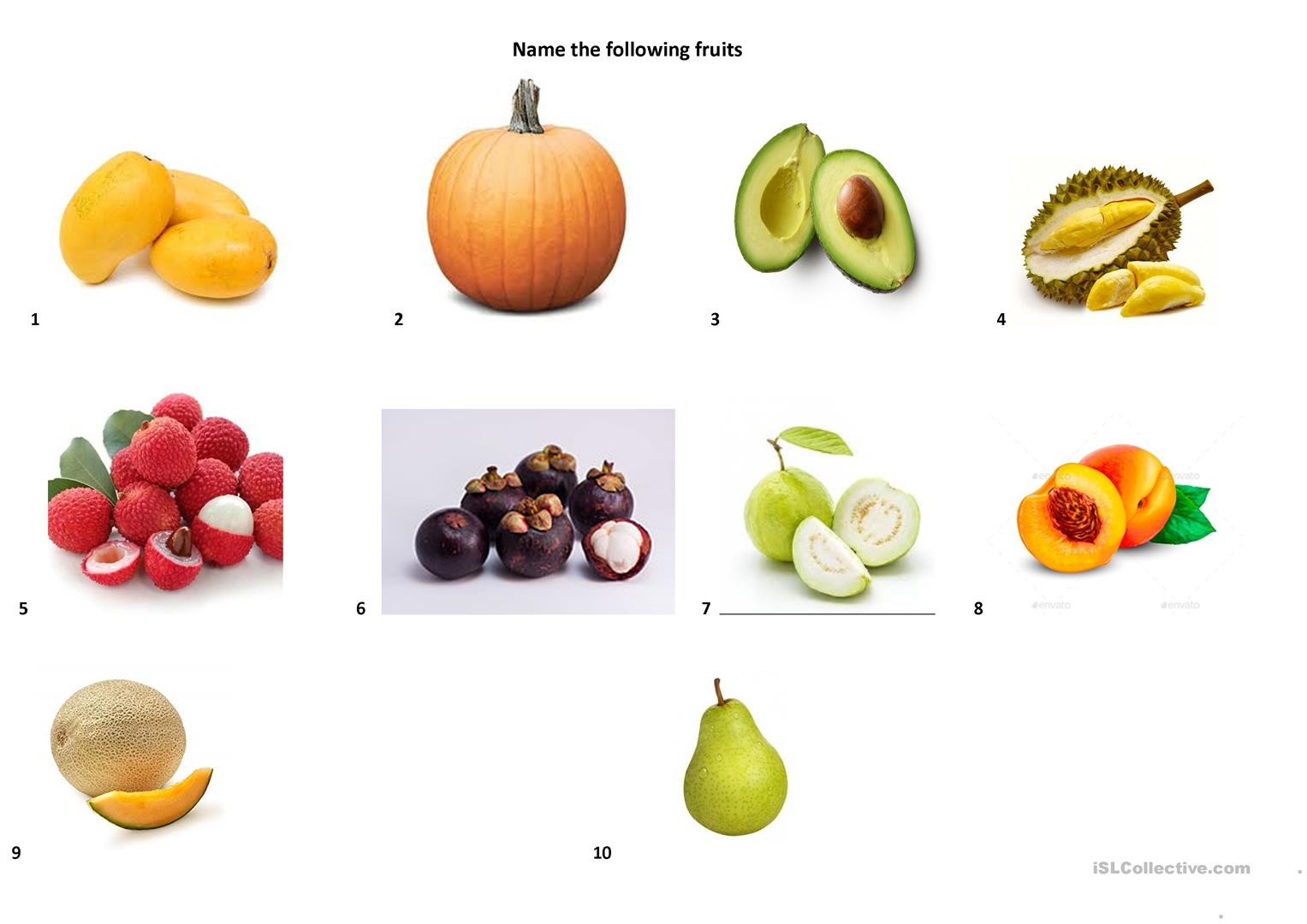 Name These Fruits