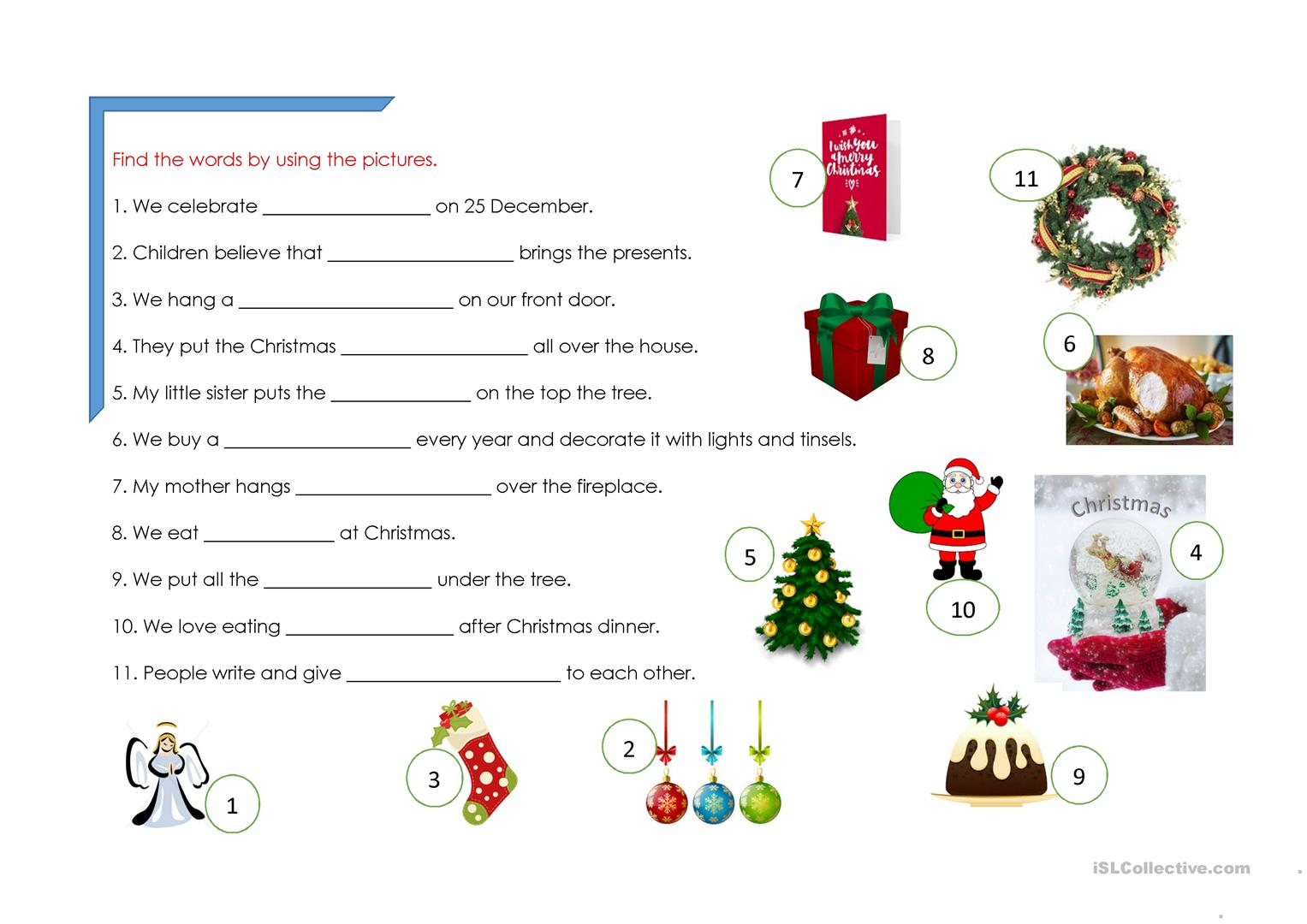 Christmas Worksheet