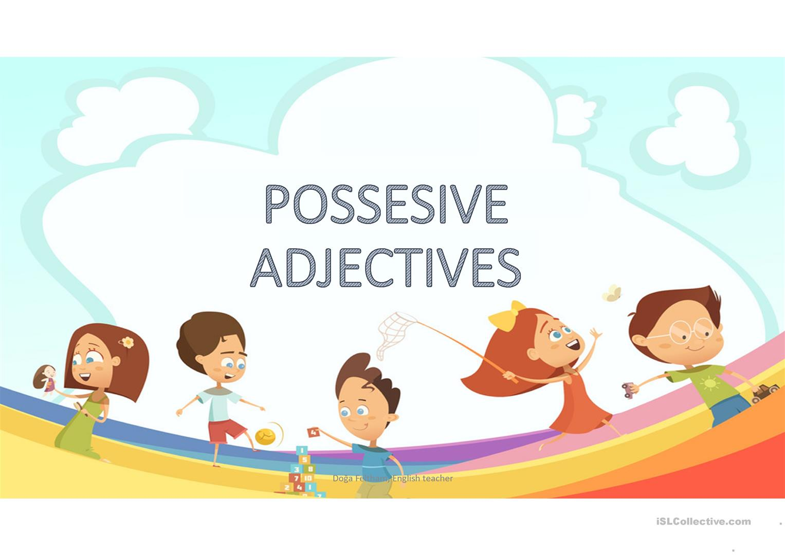 Possesive Adjectives Worksheet