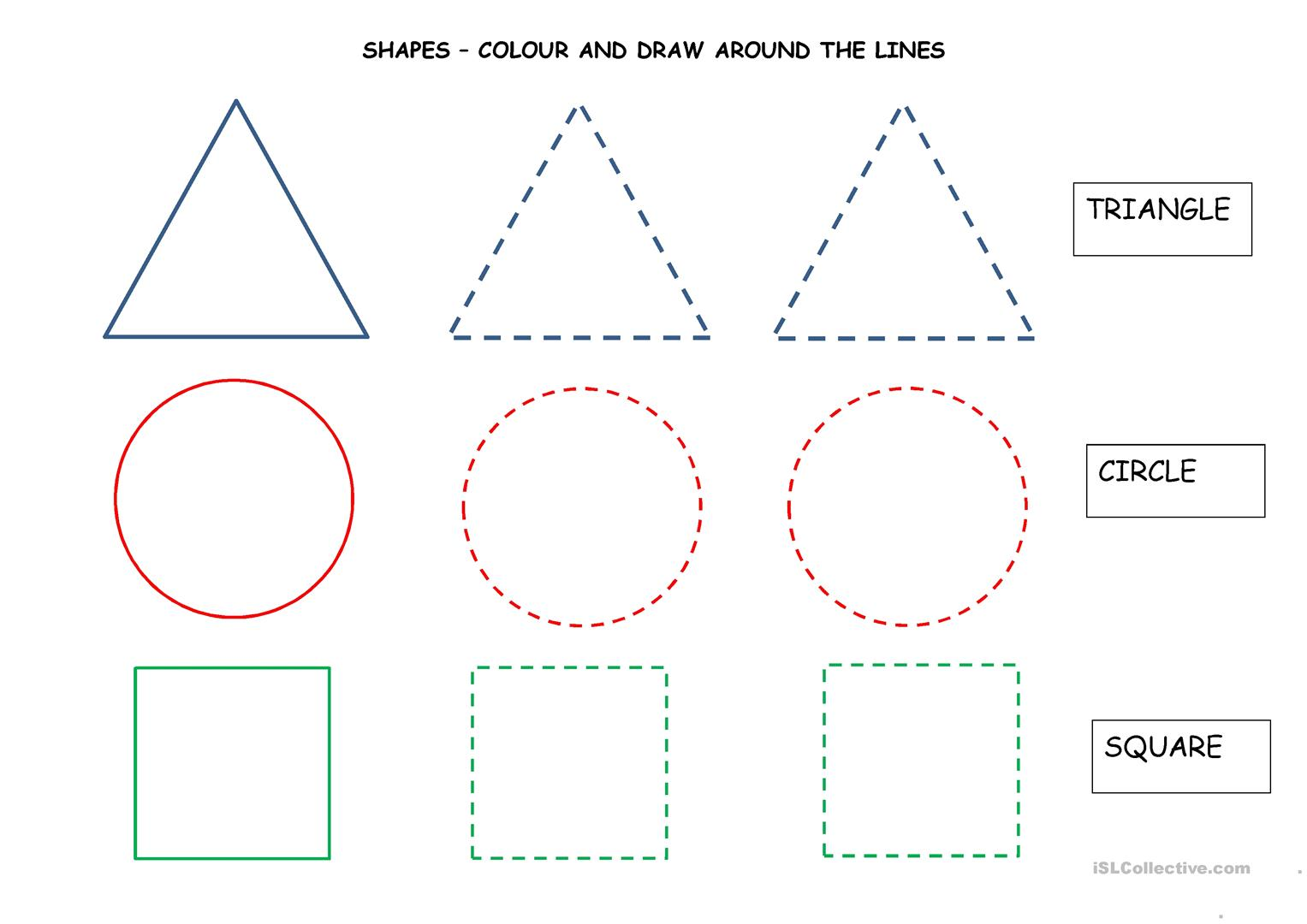 Colour And Draw Shapes