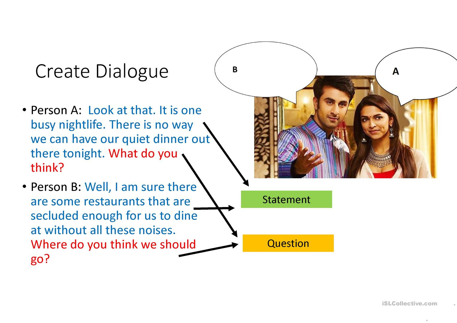 Create Dialogue Movie Scene Worksheet