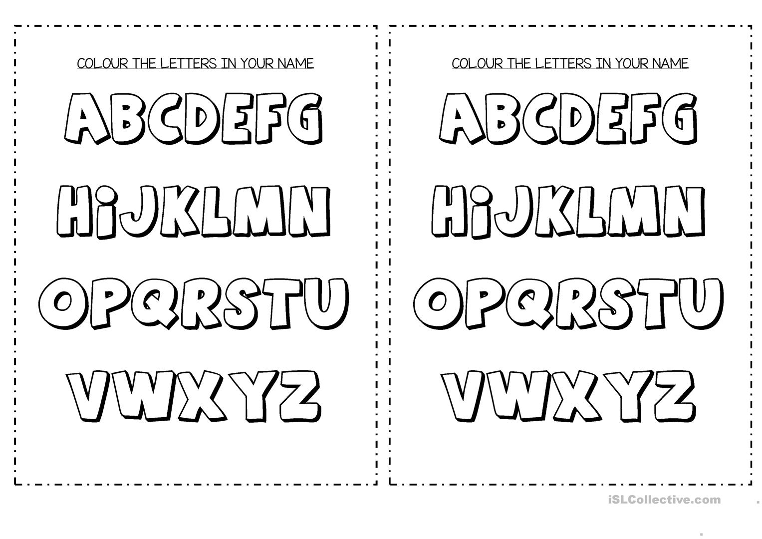 Colour The Letters In Your Name