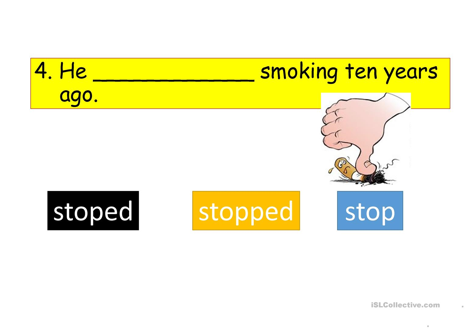Past Tense Interactive Warm Up Exercise