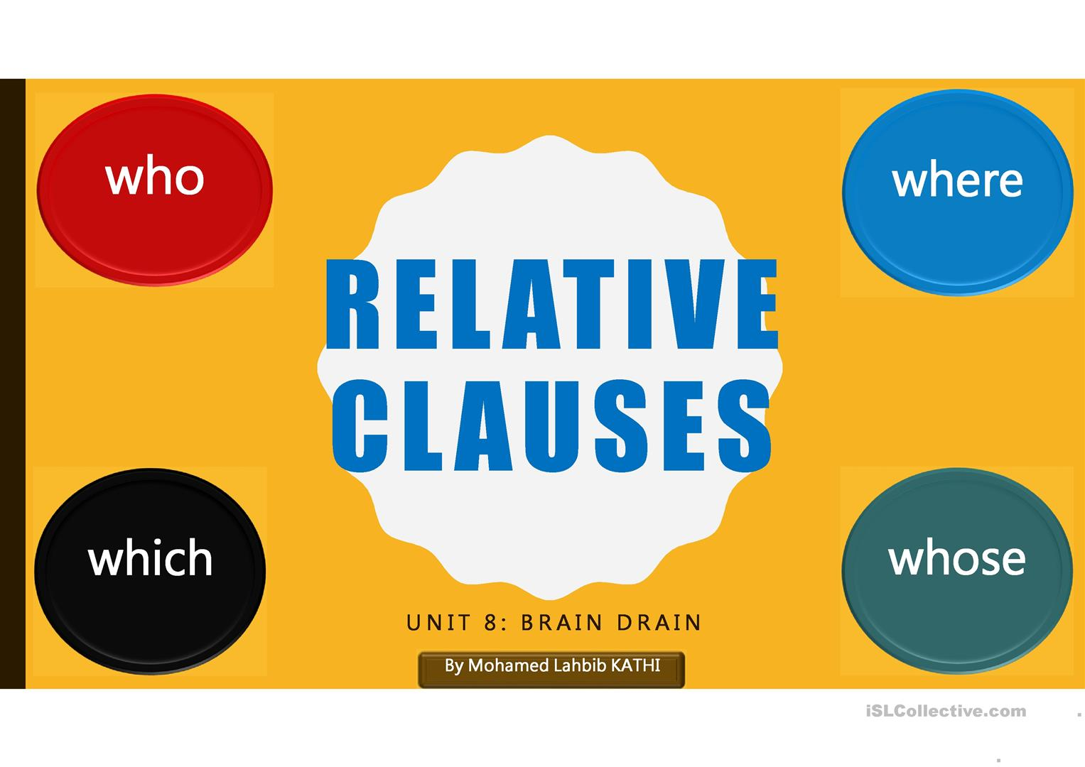 Restrictive And Non Restrictive Relative Clauses