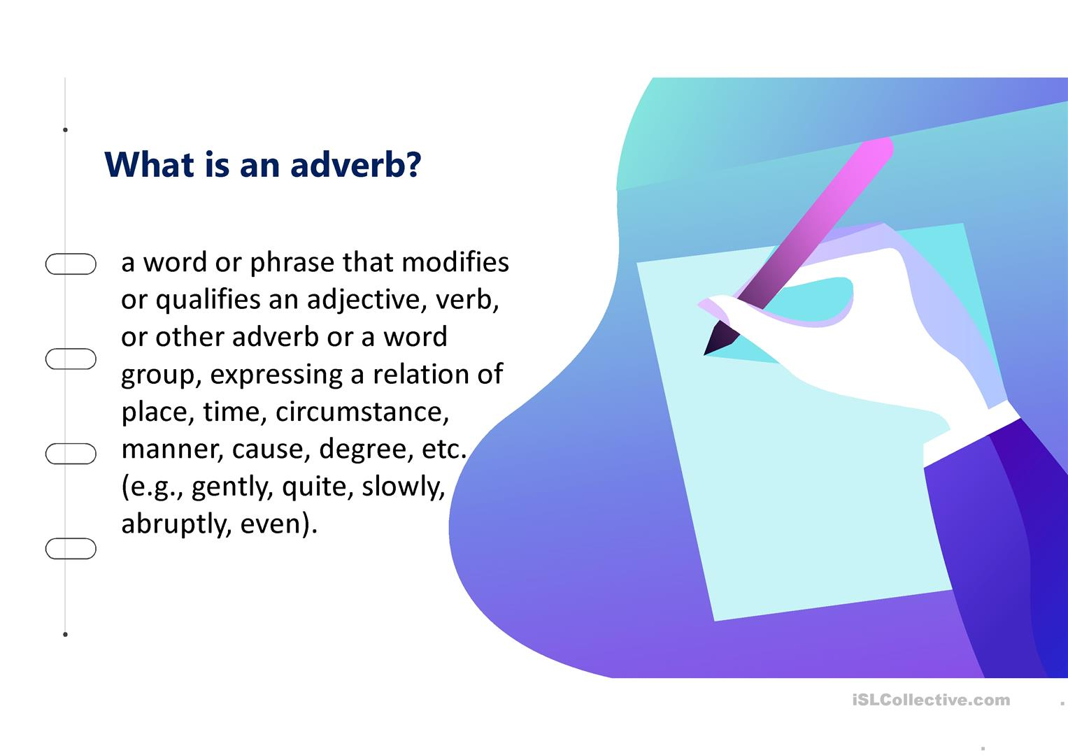 Using The Adverb Even Worksheet