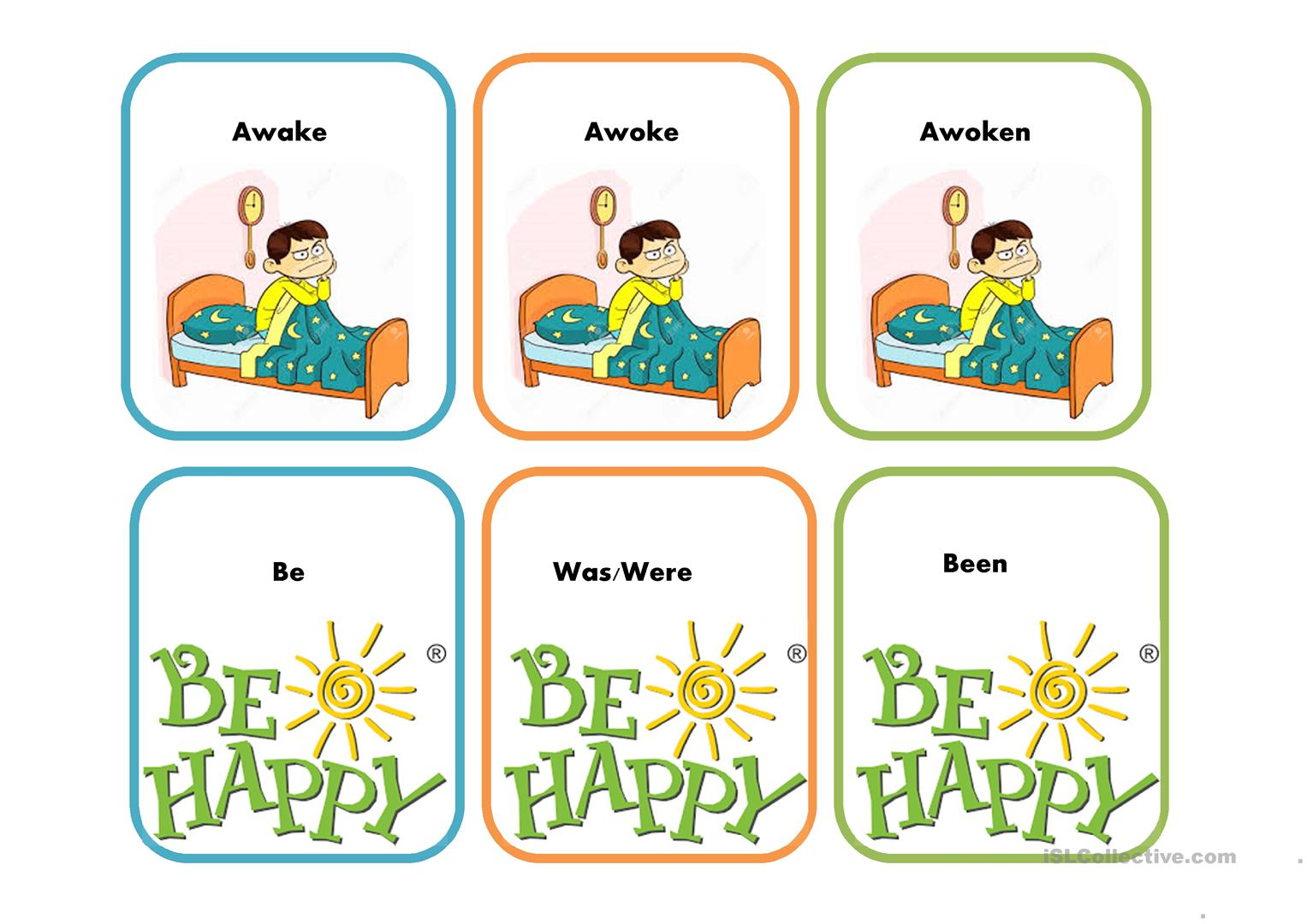 Verbs Present Past And Participle