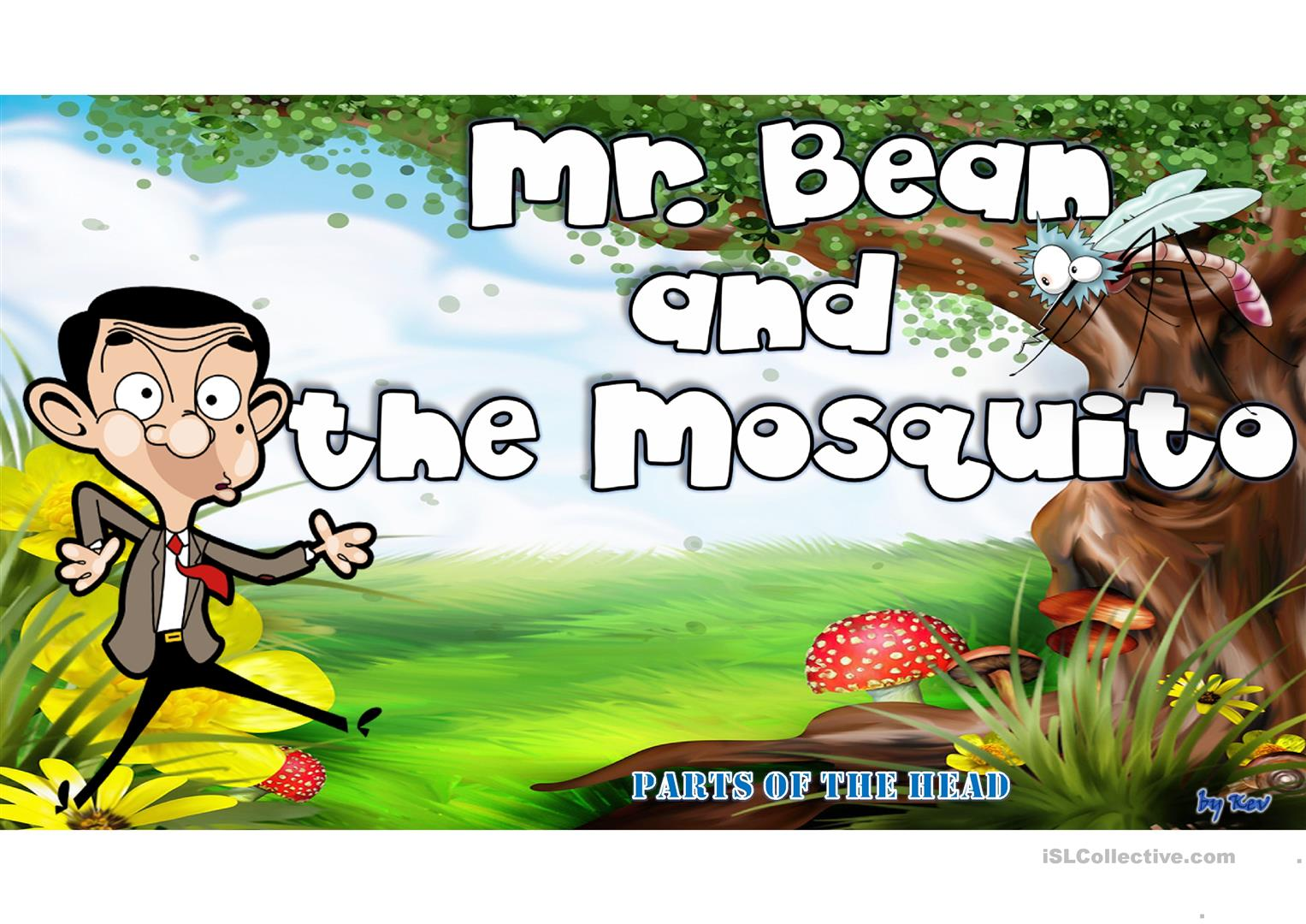 Mr Bean And Parts Of The Head Worksheet