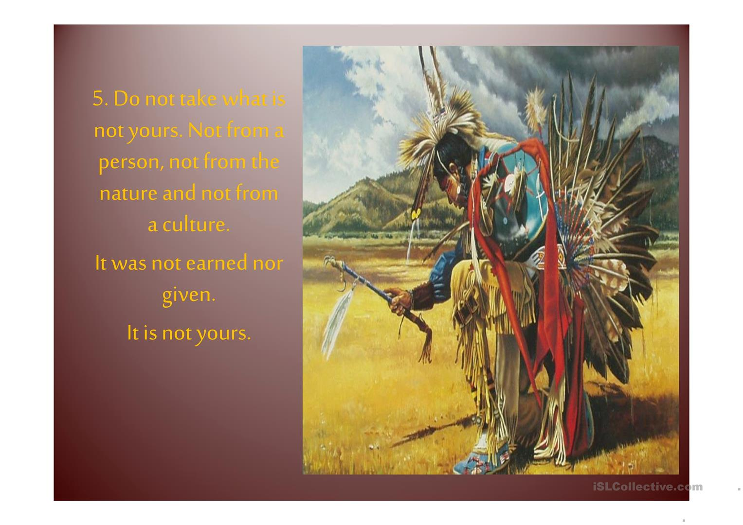 Native Americans Code Of Ethics
