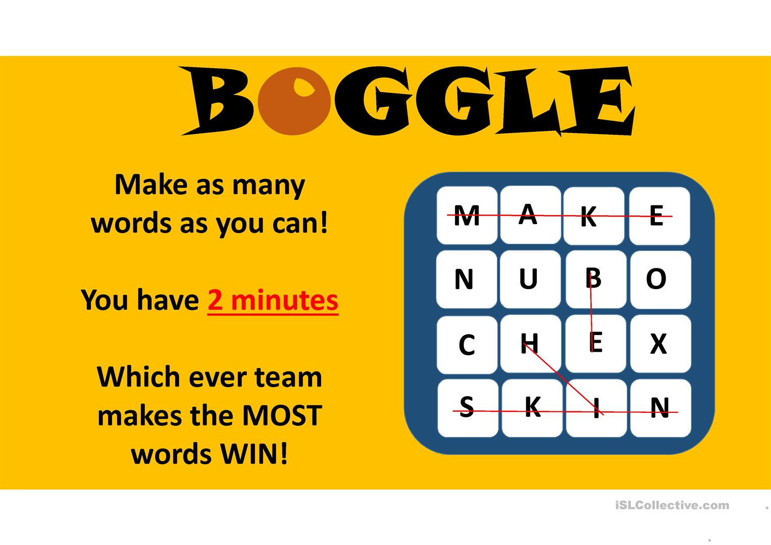 Boggle Printable That Are Declarative