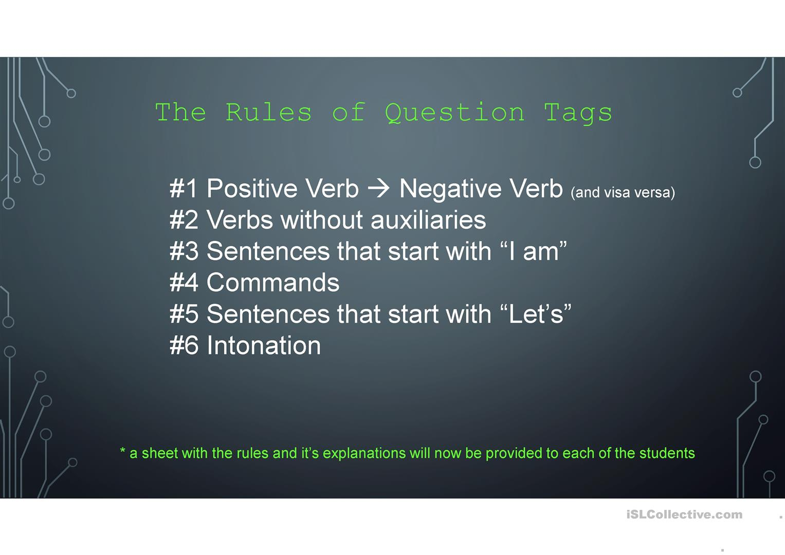 Question Tags Worksheet