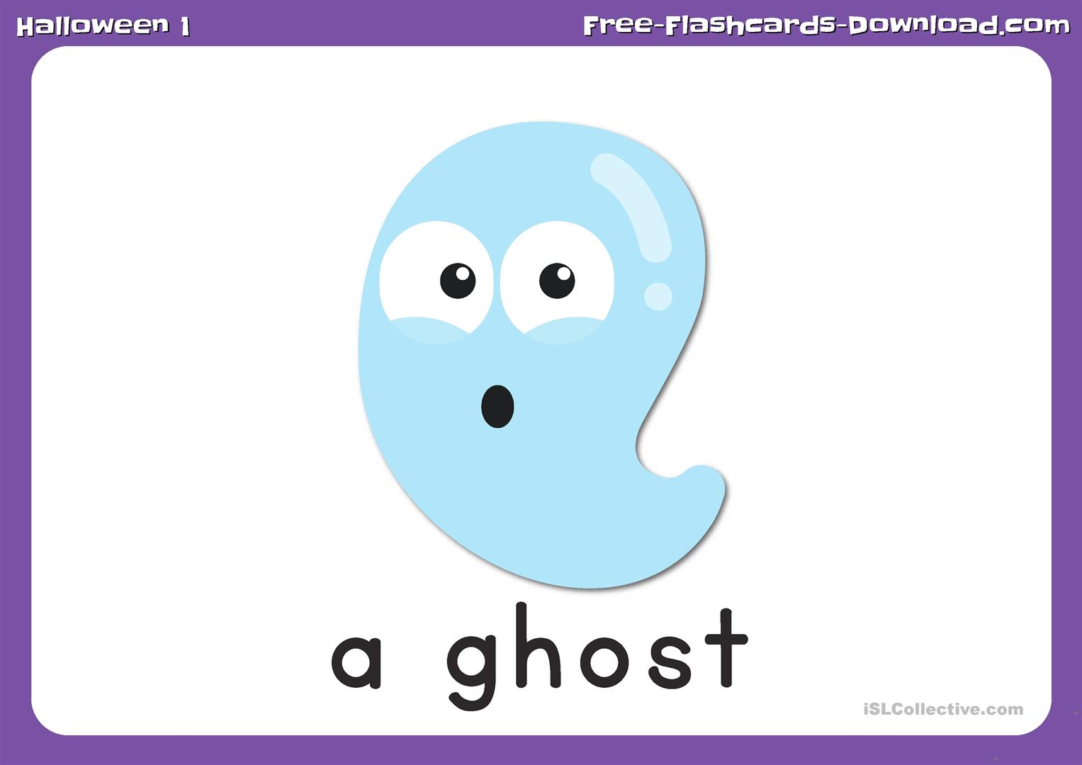 Halloween Flashcards Set 1 With Captions