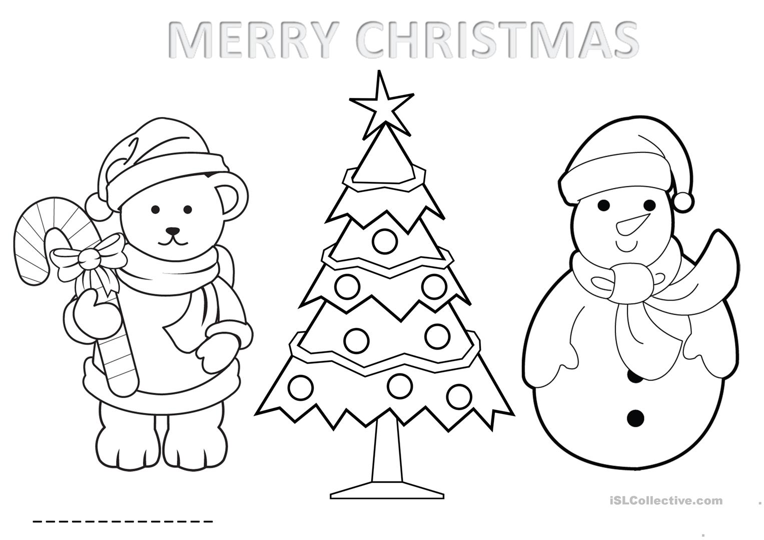 Activity Sheet Christmas For Infants Age 5