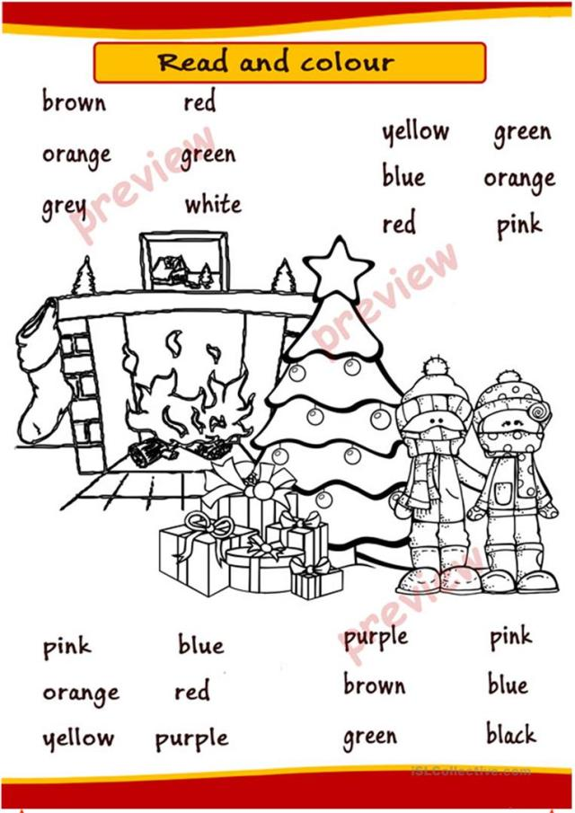Christmas Coloring pages - English ESL Worksheets for distance