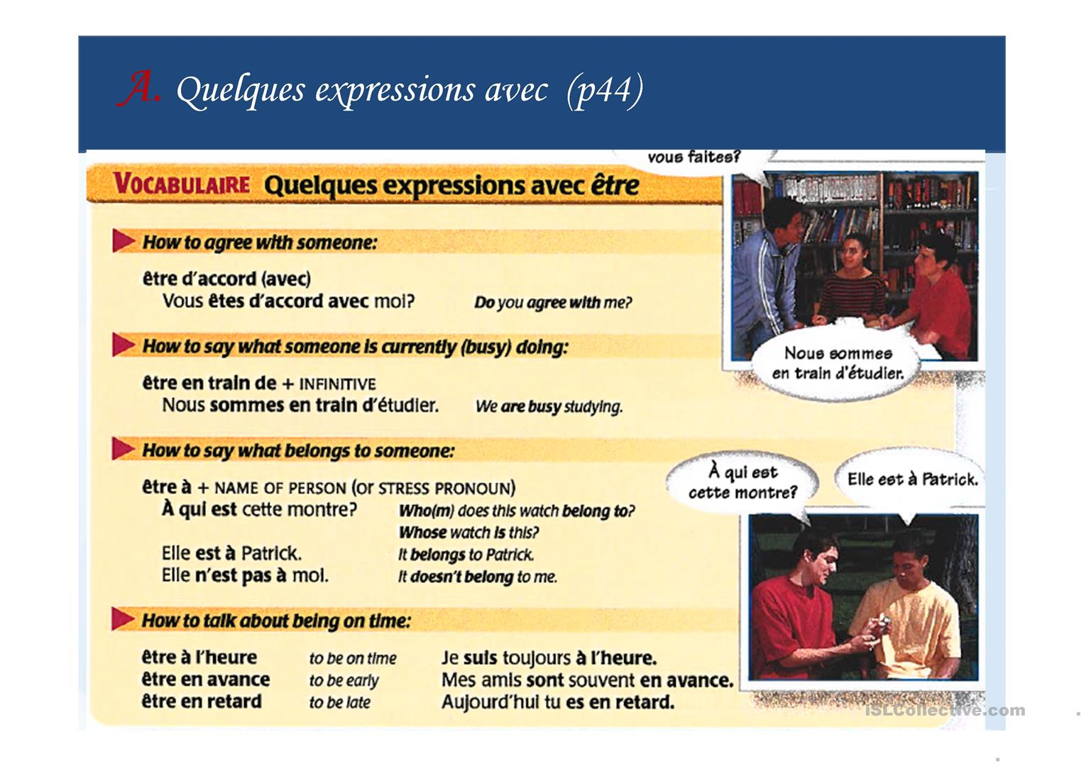 Ppt Expressions Avec Le Verbe Etre To Be