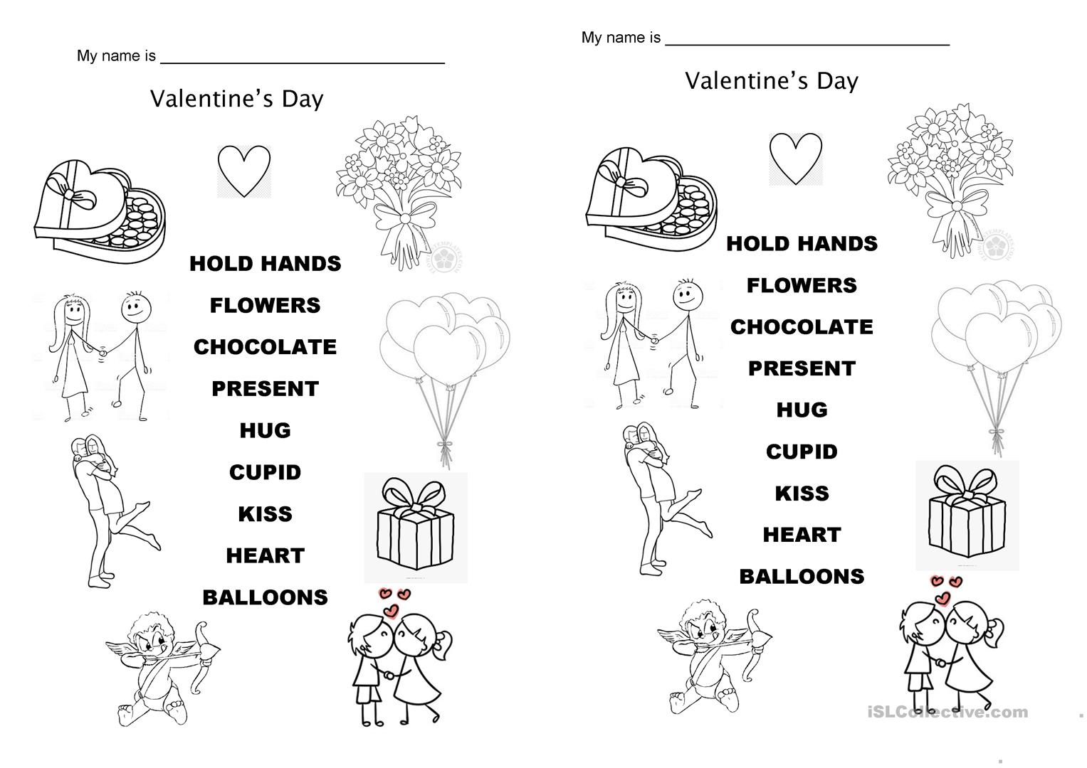 Valentine S Day Vocabulary