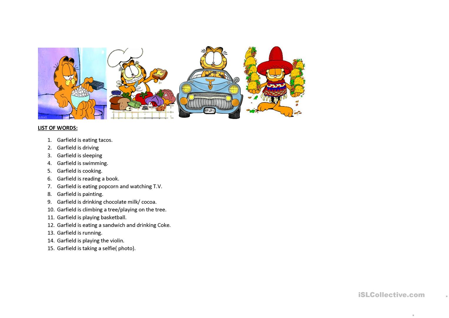 A Bingo With Garfield