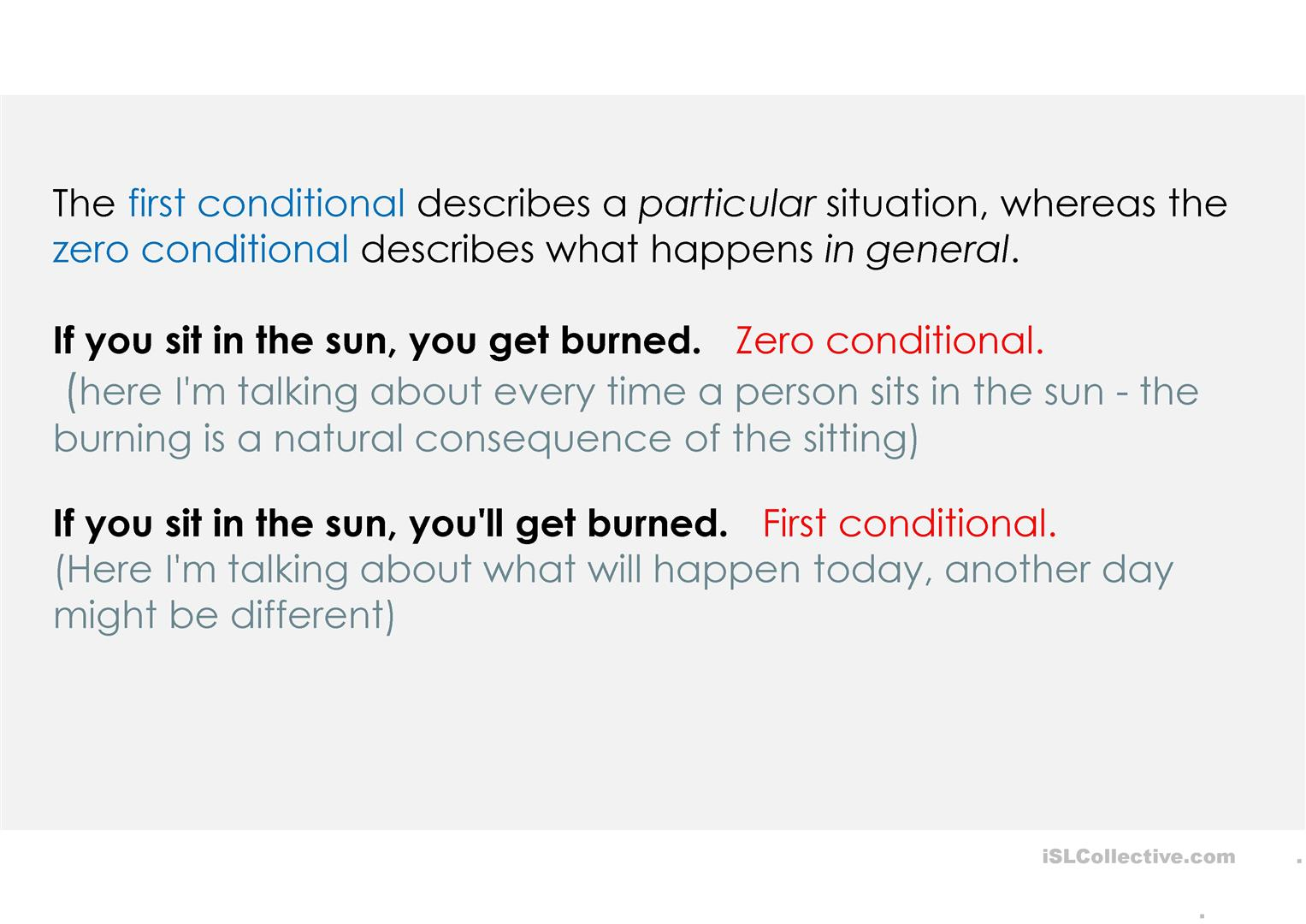 Zero First And Second Conditional