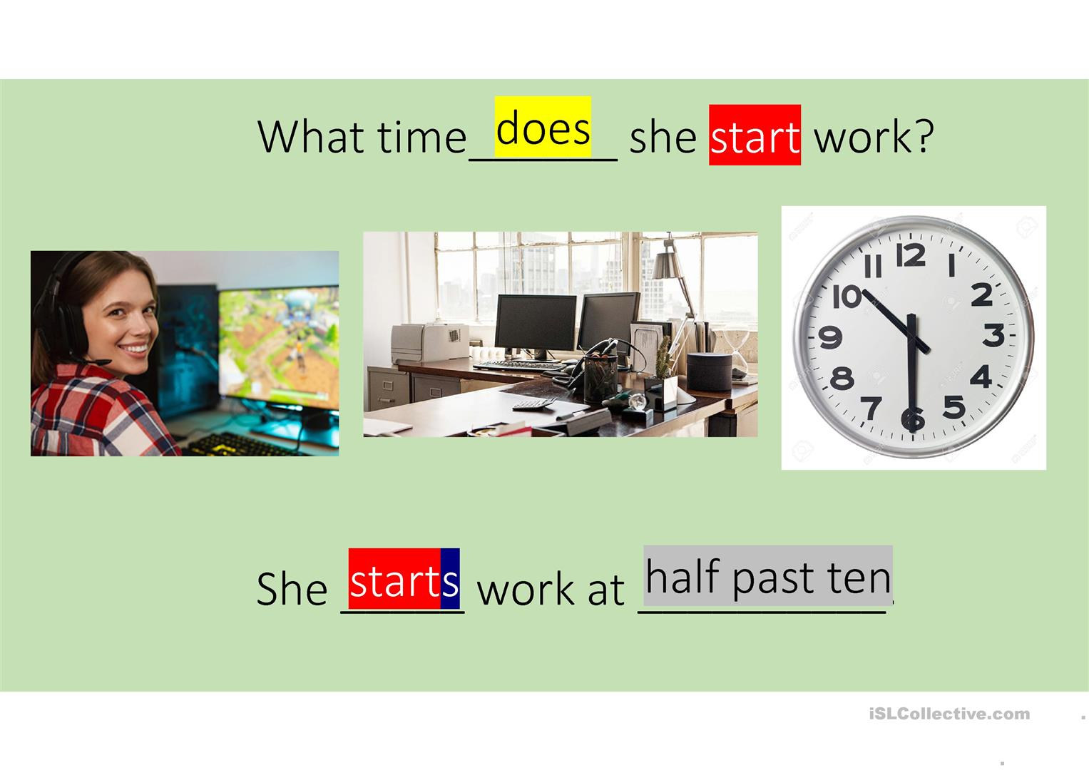 Present Simple Daily Routines And Time