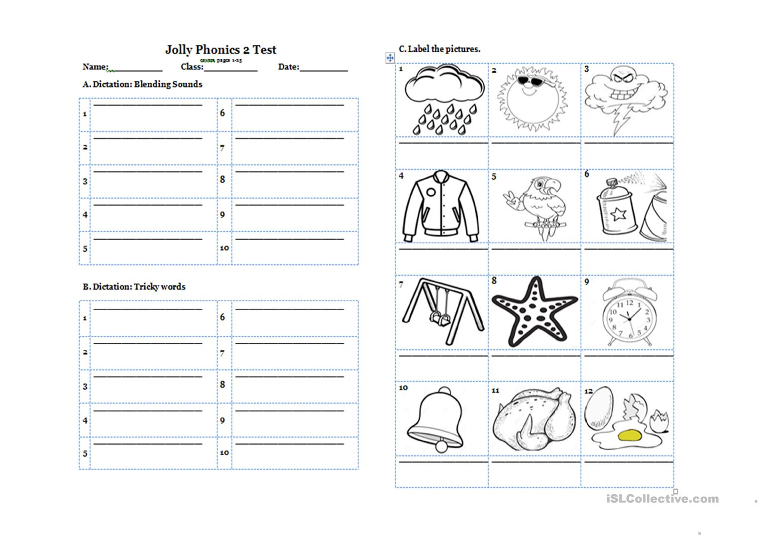 Jolly Phonics Pupil Book 2 Midterm Test