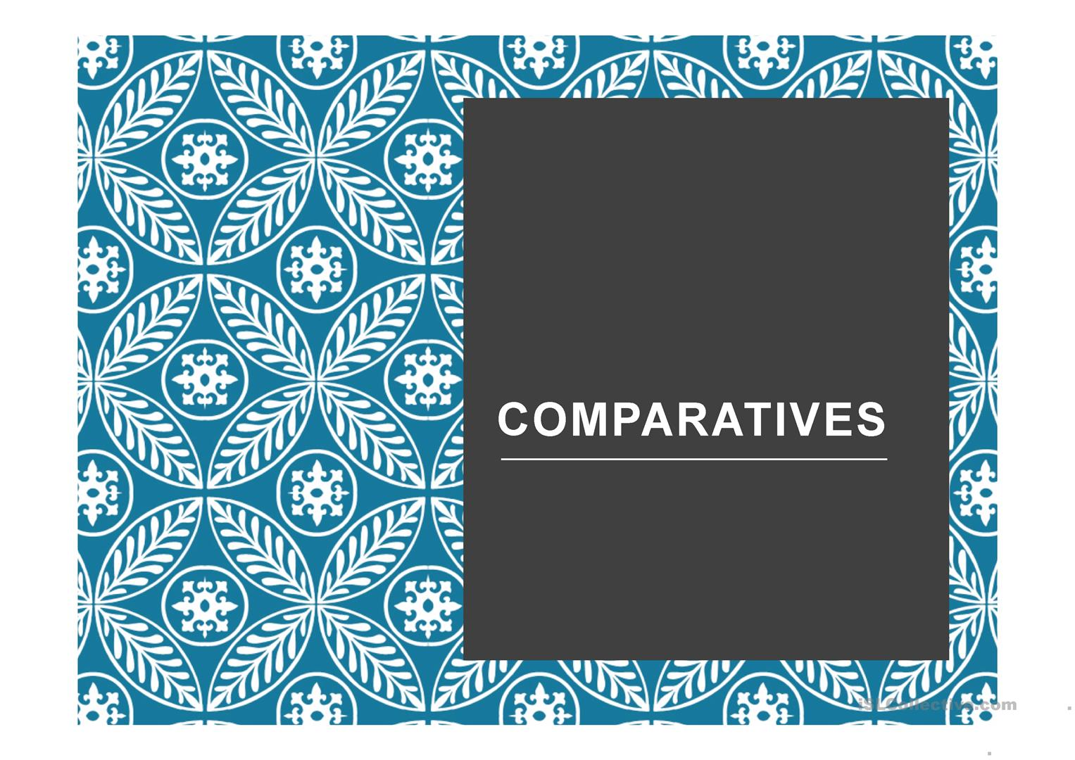 Comparative Amp Superlative Complete Explanation