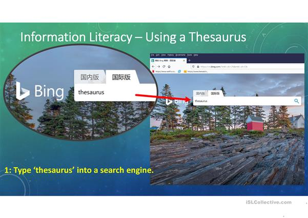 Synonym Practice And How To Use A Thesaurus English Esl Powerpoints For Distance Learning And Physical Classrooms