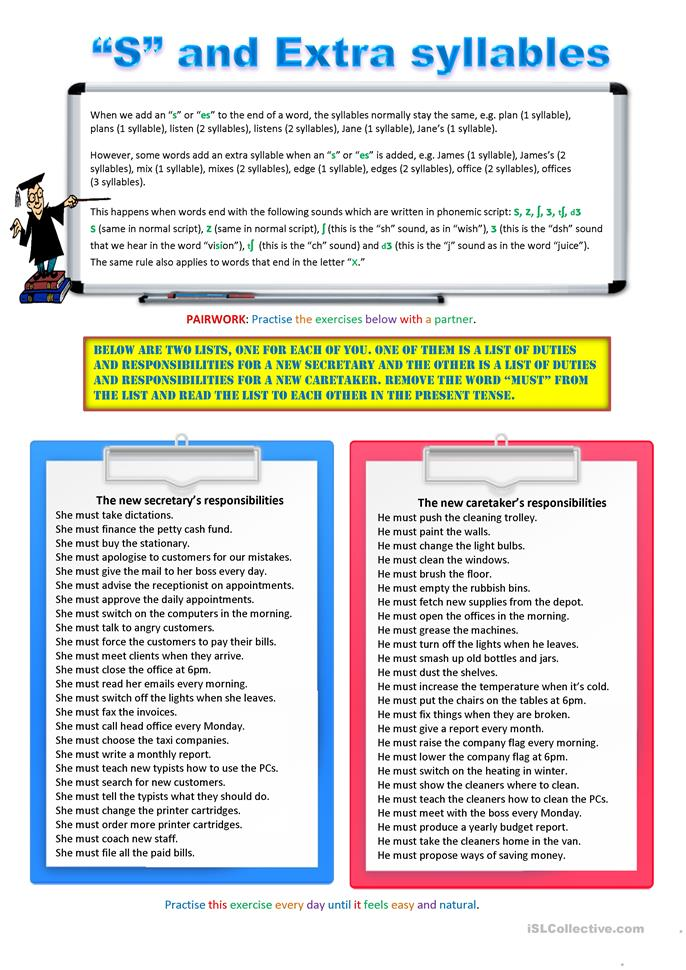 11 Free Esl Syllables Worksheets