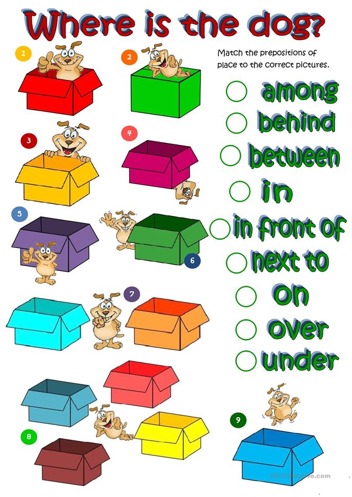 199 Free Esl Prepositions Of Place Worksheets