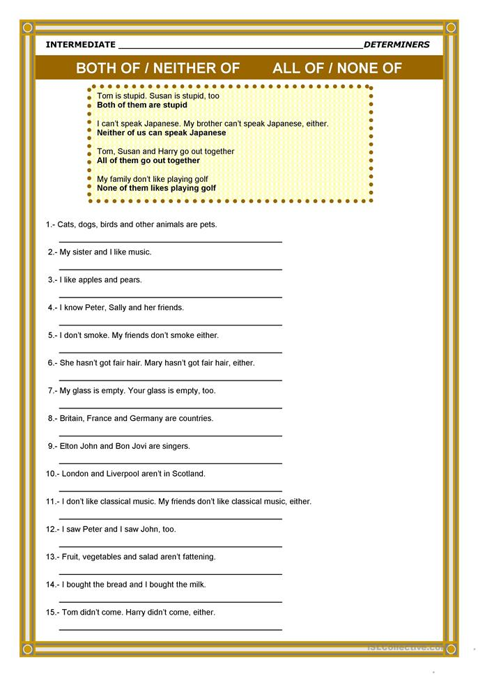 Some Any Much Many A Lot Of A Few A Little Worksheet