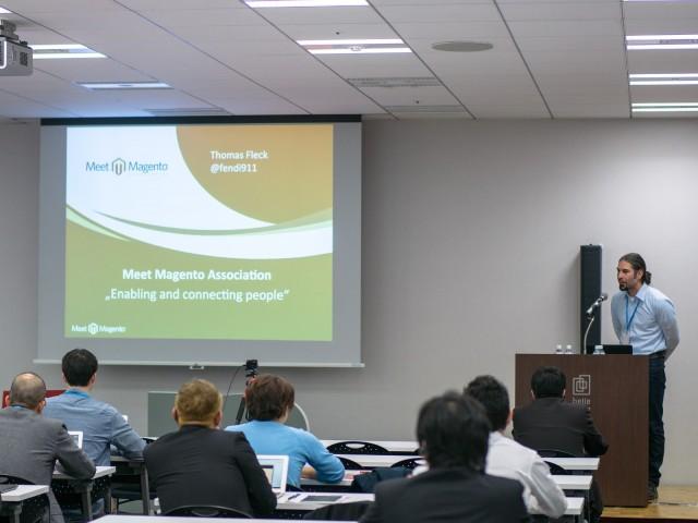 Thomas Fleck at Meet Magento Japan 2015