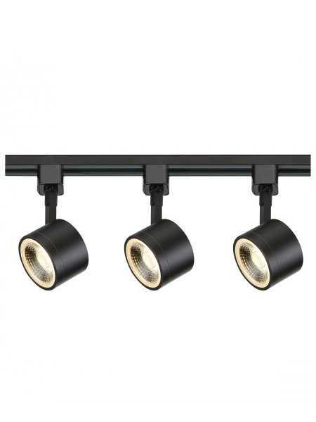 nuvo lighting tk404 36w black round track lighting kit