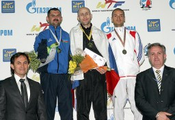 An awarding ceremony for the women's A567 -68kg weight category.