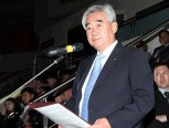 WTF President Chungwon Choue delivers an opening speech during an opening ceremony of the 2nd WTF World Para-Taekwondo Championships.