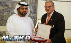 Honorary Taekwondo Black Belt was given to Crown Prince of Fujairah