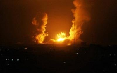 ISRAEL AIRSTRIKES HIT GAZA ON MONDAY
