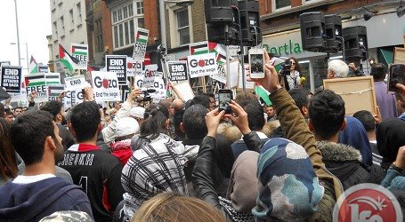 THOUSANDS RALLY IN LONDON AGAINST GAZA ASSAULT